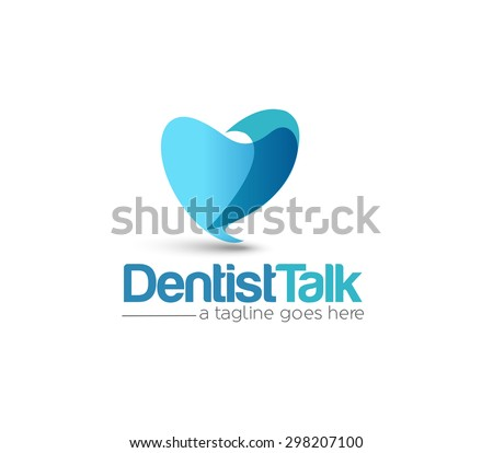 Branding Identity Corporate Dentist vector logo design  - stock vector