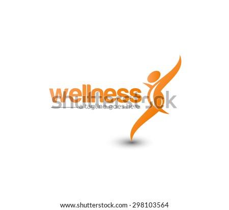 Branding Identity Corporate Wellness vector logo design  - stock vector