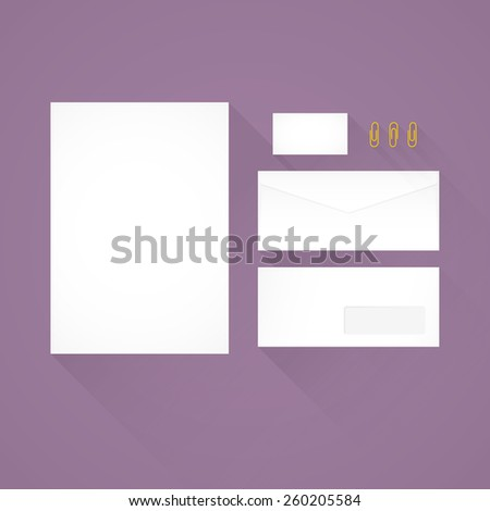 Branding Identity Template Letterhead Envelope Business Stock