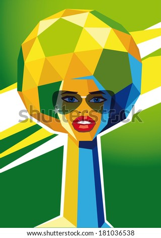 brasil_soccer_glasses - stock vector
