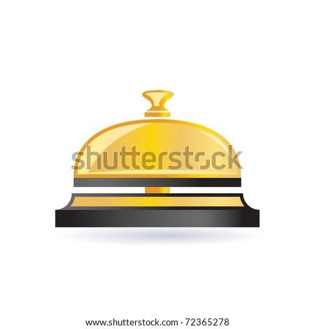 brass bell - stock vector