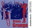 Brass Grunge - stock vector