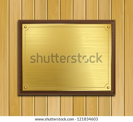 Is there a specific term for images/posters that are printed on wood or a plaque-like background?