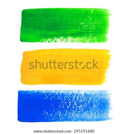 Brazil acrylic banners - stock vector