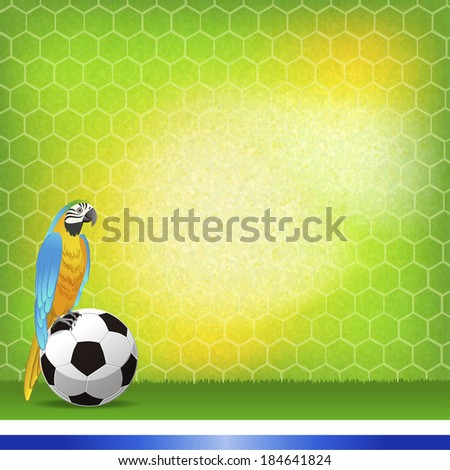 Brazil and football background. File contains Clipping masks, Gradients, Gradient Mesh. - stock vector