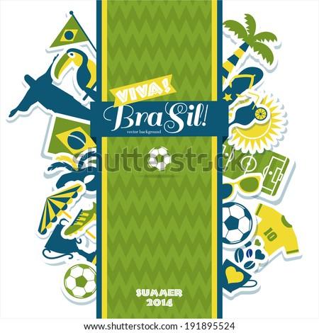 Brazil background. - stock vector