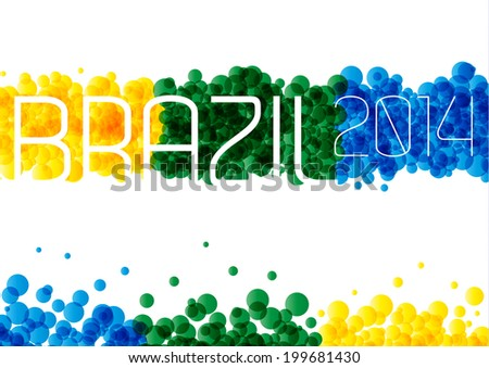 Brazil 2014 Background - stock vector