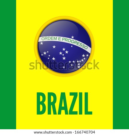 Brazil. Background for your  presentations. Vector illustration
