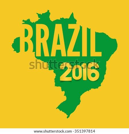 Brazil background template. Rio De Janeiro backdrop for your presentations.Vector illustration. - stock vector