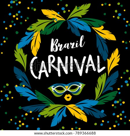 Brazil carnival. Vector template for carnival concept and other users