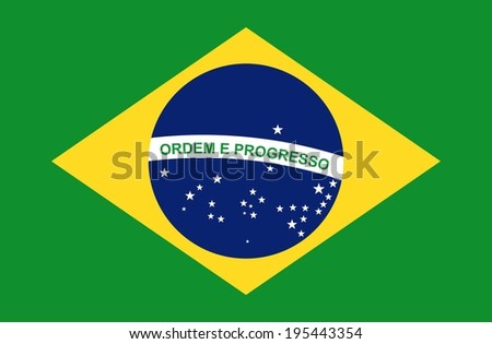 Brazil design over green background, vector illustration