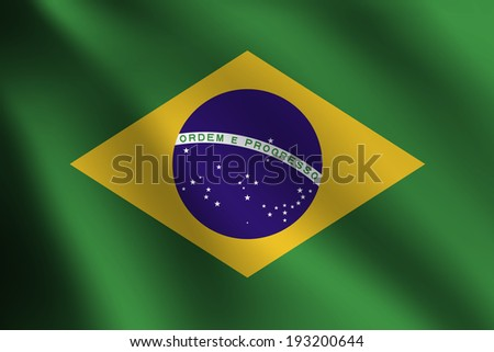 Brazil Flag - stock vector