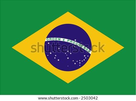 Brazil flag - stock vector