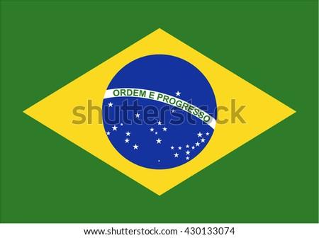 Brazil flag icon - stock vector
