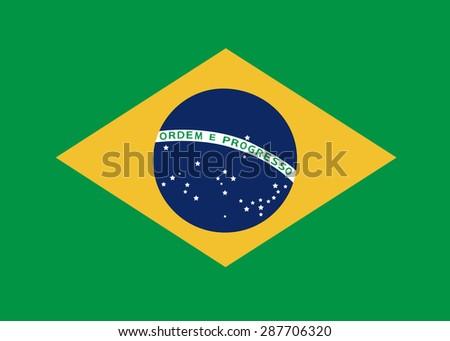 Brazil flag vector - stock vector