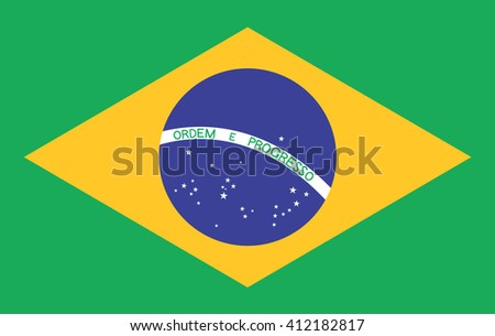 Brazil flag. Vector design.