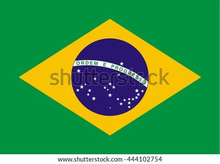 Brazil Flag .vector eps 10 - stock vector