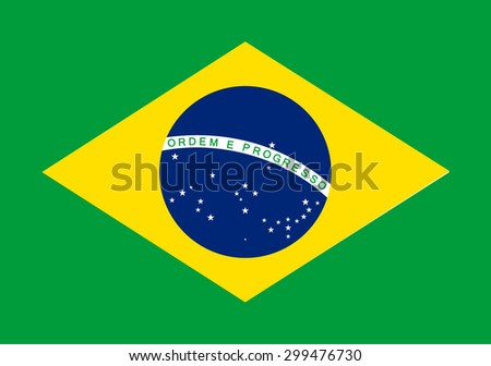 Brazil flag - vector icon