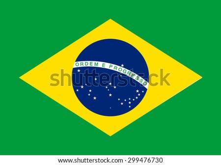 Brazil flag - vector icon  - stock vector