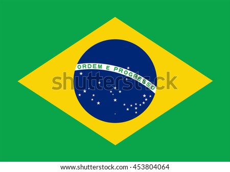 Brazil flag.Vector illustration