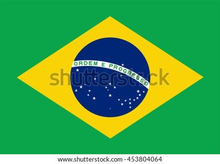 Brazil flag.Vector illustration - stock vector