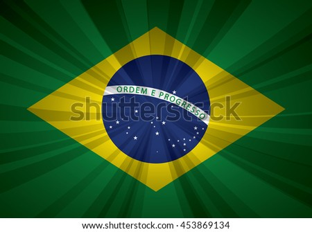 Brazil flag vector illustration.