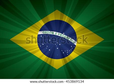 Brazil flag vector illustration. - stock vector