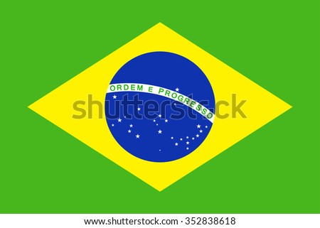 Brazil Flag - Vector Illustration Vector Illustration of Brazil Flag Icon