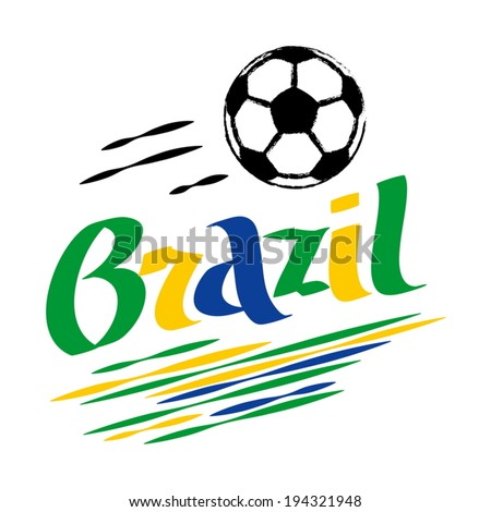 brazil football - stock vector