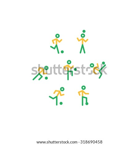 Brazil football players small pictogram