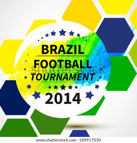 Brazil 2014 football poster.Bright Background. Vector illustration - stock vector