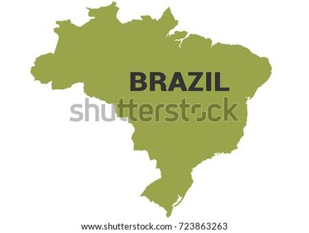 Brazil Political Map Stock Vector Shutterstock - Brazil political map