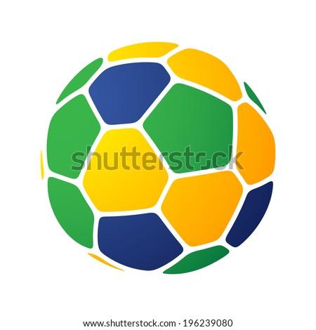 Brazil soccer-ball - stock vector