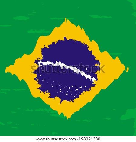 Brazil vector background. - stock vector