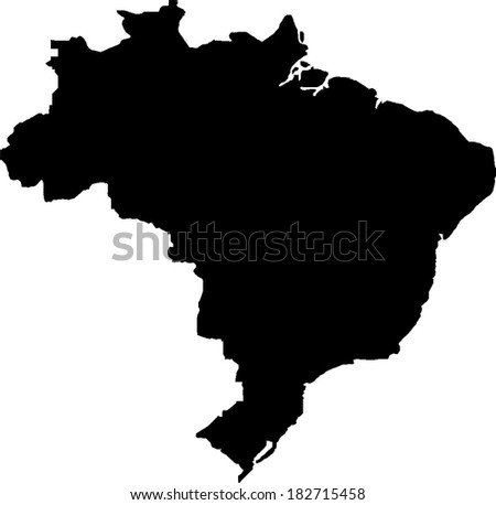Brazil Vector Map - stock vector