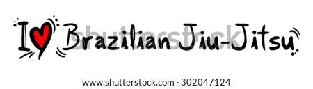 brazilian jiu jitsu - stock vector