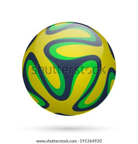 Brazilian soccer ball 2014. Vector illustration. - stock vector