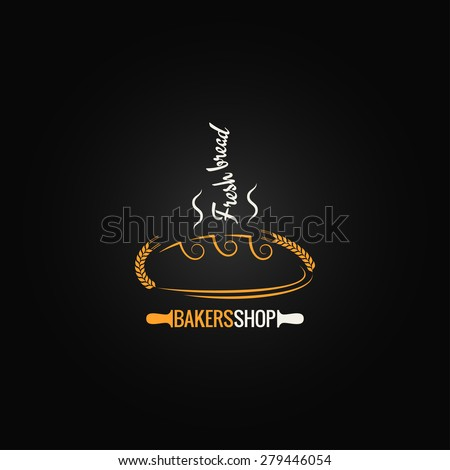 bread concept design background - stock vector