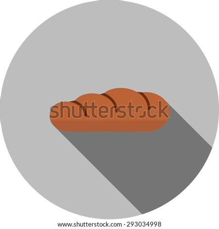 Bread, food, breakfast icon vector image.Can also be used for easter, celebration, observances & holidays. Suitable for mobile apps, web apps and print media.
