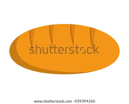 Bread icon. Bakery and food design. vector graphic