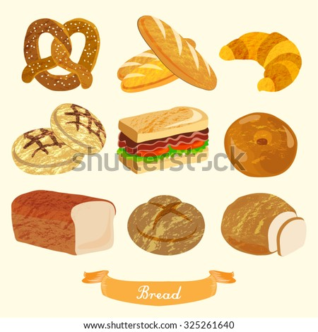 Bread Vector Design Illustration