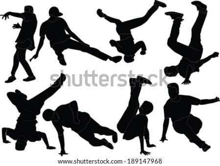 break dance collection - vector - stock vector