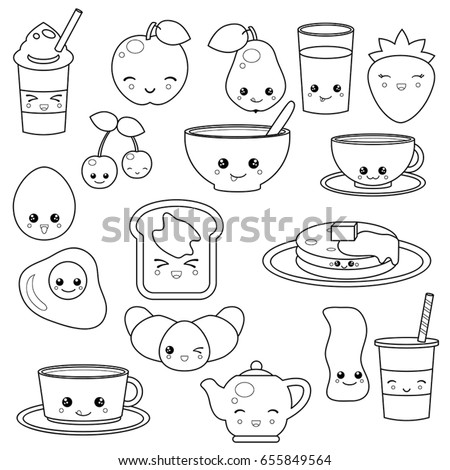 breakfast food coloring pages - photo#28