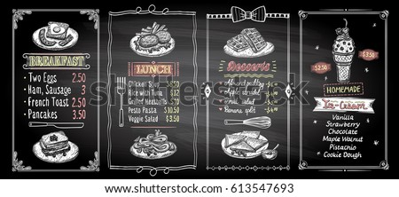Chalkboard Menu Stock Images, Royalty-Free Images & Vectors ...