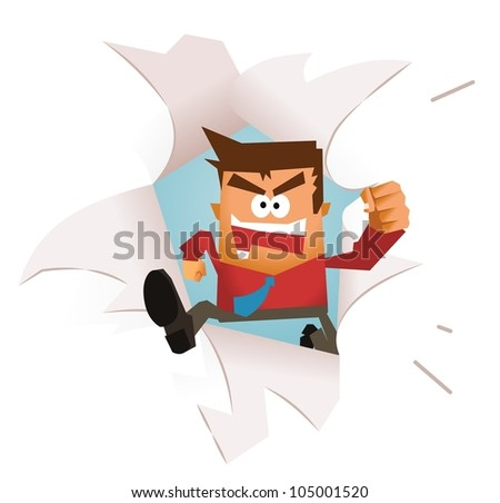 Breaking Free. vector illustration