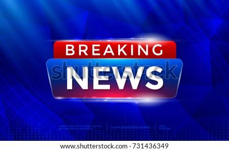 Breaking News Background TV Channel Screensaver Vector