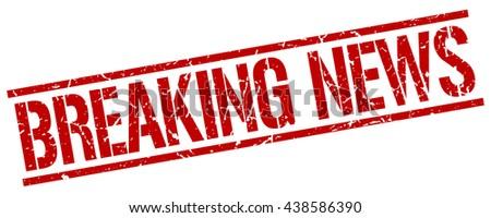Breaking News Stampstampsignbreakingnews Stock Vector 438586390