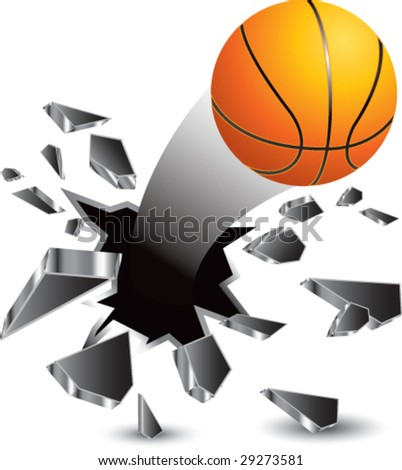 breakthrough basketball isolated - stock vector