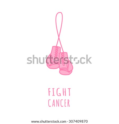 Breast Cancer Awareness Month Banner. Logo for poster. Message for women. Check yourself. - stock vector