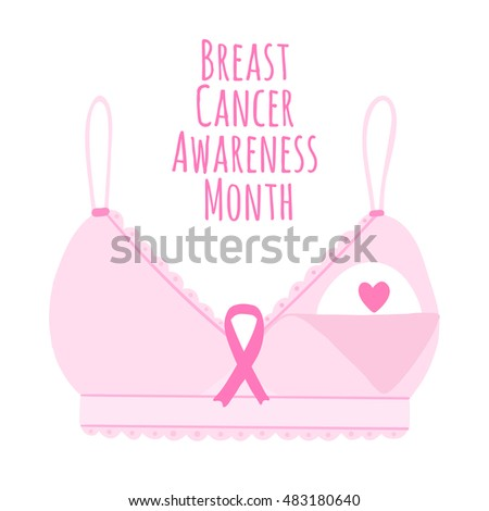 Breast cancer awareness month vector background.